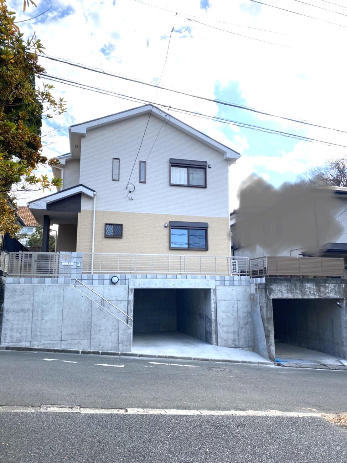 二宮町 K様邸 地下車庫2台の新築工事